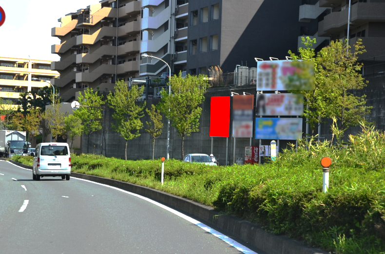 都筑区・牛久保】県道102号すみれが丘入口信号手前 建植サイン 0026 ...